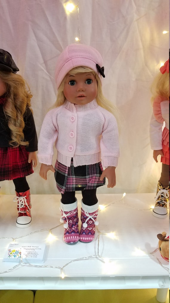 Pink and Black Doll Clothes that will fit the American Girl Doll