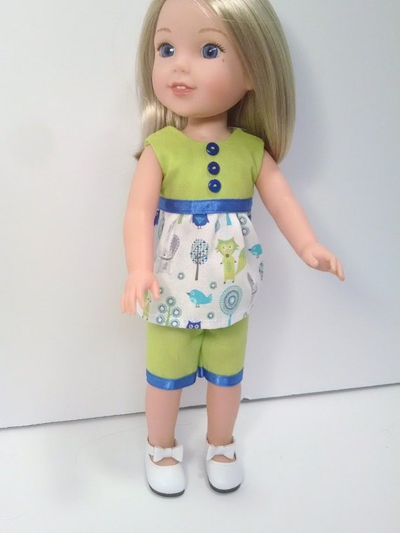 Two piece  that will fit a 14.5 size doll like the Wellie Wisher