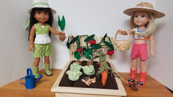 Veggie Garden Set the The Wellie Wisher Dolls