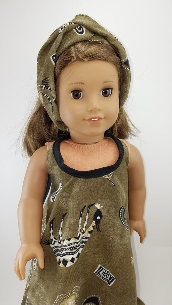 Maxi Boho Dress for  the 18 inch American Girl Doll