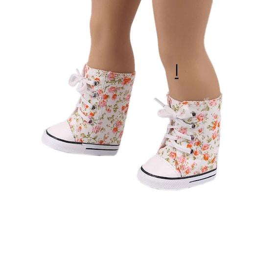 American Girl Doll Hi-Top Tennis Shoes, Beautiful colors