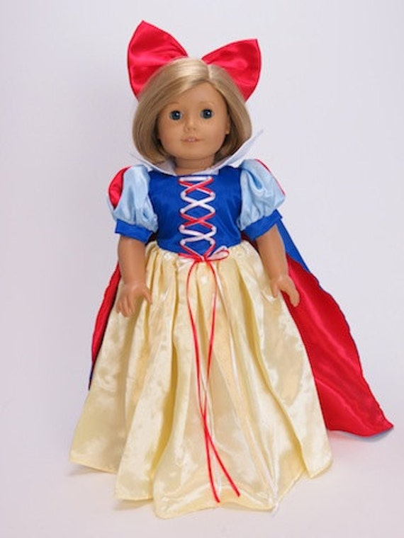 "Snow White Dress that fits  the American Girl or any 18"" doll"