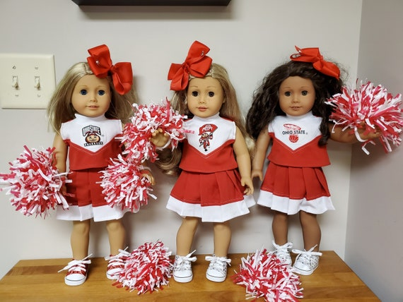 American Girl Doll Ohio State Cheer Leading Outfit