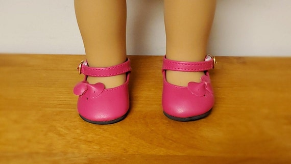 18 Inch Girl  Doll Shoes with Side bow. fits American Girl doll