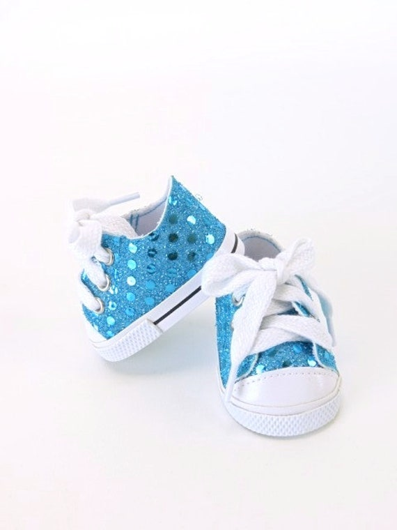 Sequin Sneakers for American Girl or the Bitty Baby Doll Several different colors