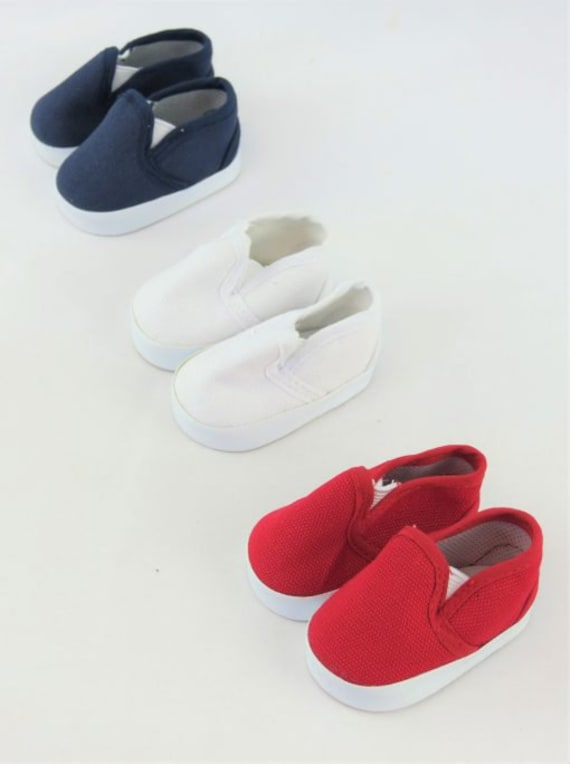 Slip on Tennis shoes for the American Boy or Girl Doll