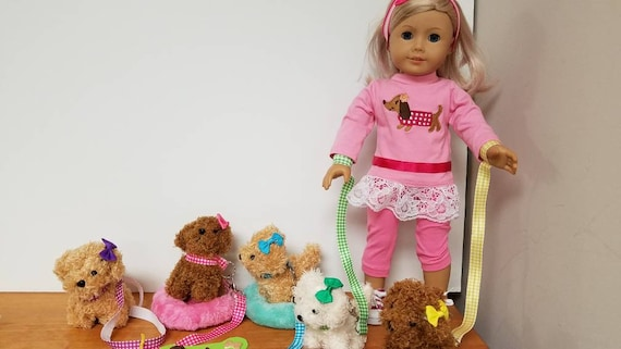 """Pet Puppy Dog for American Girl Doll 18"""" and Accessories"""
