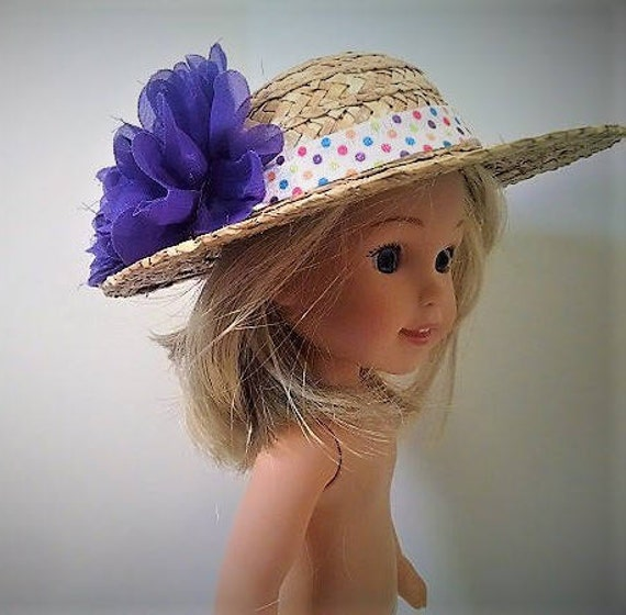 Dolly Hats- Straw that will fit the 14.5 inch Wellie Wisher doll