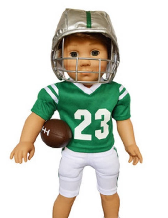 Football outfit for any 18 inch  Boy Doll like Logan