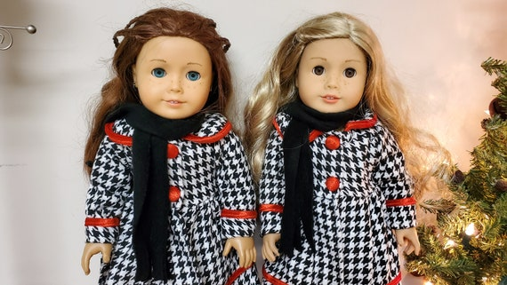 Houndstooth Coat Dress for any 18 inch Doll like the American Girl Doll