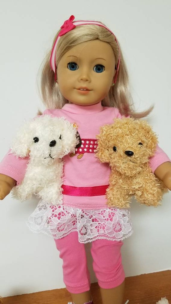 "Pet Puppy Dog for American Girl Doll 18"" and Accessories"