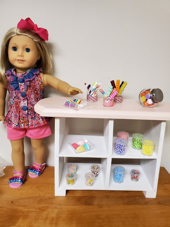 "American Girl Display Case or Any 18"" Doll - Open Display Counter"