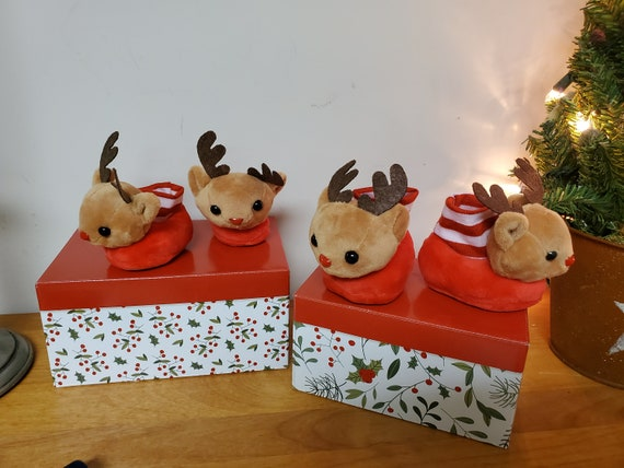 American Girl or Wellie Wisher Doll Reindeer Slippers
