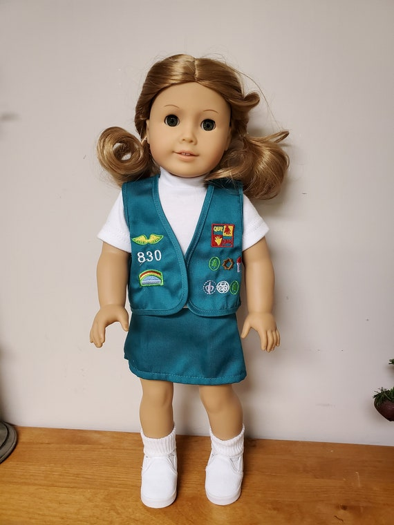 6 piece girl scout Outfit for any 18 Inch doll like the American Girl doll