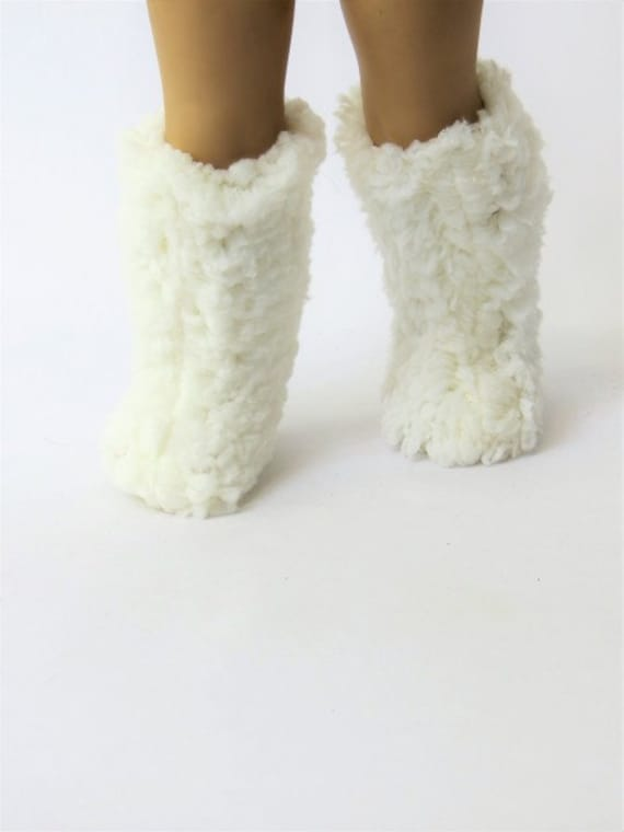 White Fur Boots for the American Girl Doll