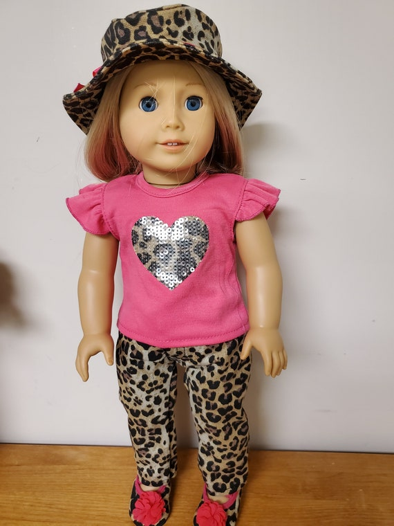 Leopard 4 Piece outfit for the American Girl