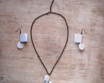 Miniature Book Jewelry Set