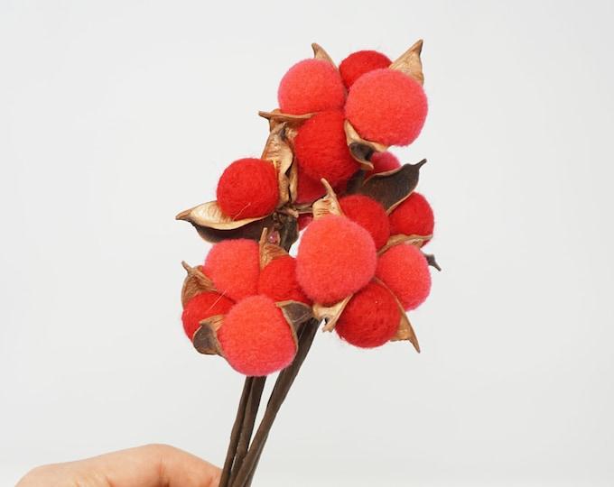 5 pcs dried cotton flowers, cotton balls, cotton, dried cotton stalks, cotton stems, artificial cotton stem, dried flowers, Christmas decor
