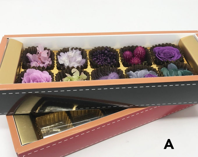 flower gift box, preserved flowers, floral arrangements, dried flowers, preserved roses, flower gifts, gift box, chocolate box, candy box