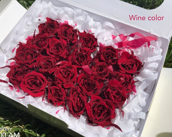 Wine, preserved roses, micro roses, preserved flowers, red roses, floral arrangements, flower decor, home decor, wedding decor, small roses