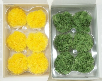 Green ball, Dianthus barbatus, yellow, Green preserved flowers, home decor, wedding decor, flower decorations, sweet william,  flower decor