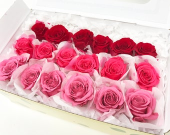 Pink themed, preserved roses, 3 colors, preserved flowers, floral arrangements, home decor flowers, wedding decor roses, gift roses,