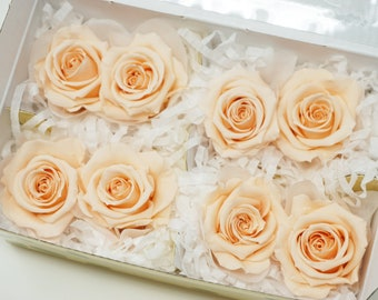Peach, preserved roses, floral arrangements, preserved flowers, home decor, wedding decor, flower gifts, wedding flowers, real roses