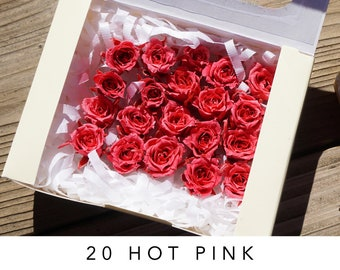 Hot pink, preserved roses, preserved flowers, wedding roses, wedding decor, home decor, flower arrangements, real roses, dried roses