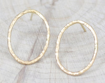birthday gift wedding gift 1.0 mm vermeil gold open circle hammered band ring bridesmaid ring
