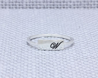 925 sterling silver cursive script on your own ring