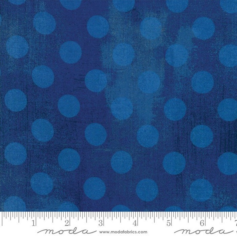 Grunge Hits The Spot Cobalt 30149 28 by BasicGrey for Moda