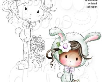 Easter Bunny - Winnie suiker hagelslag - digitale stempel downloaden