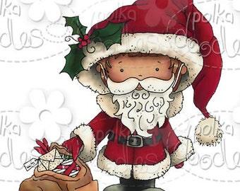 Christmas Santa Digital Stamp - by Nikky Hall