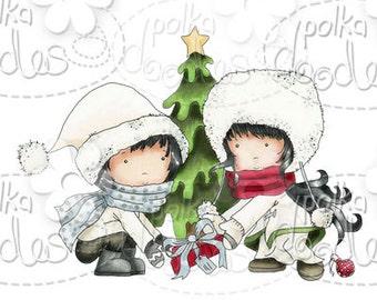 Christmas Tree Digital Stamp - by Nikky Hall