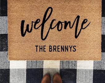 Custom door mat, Welcome door mat, last name mat, wedding gift, house warming gift