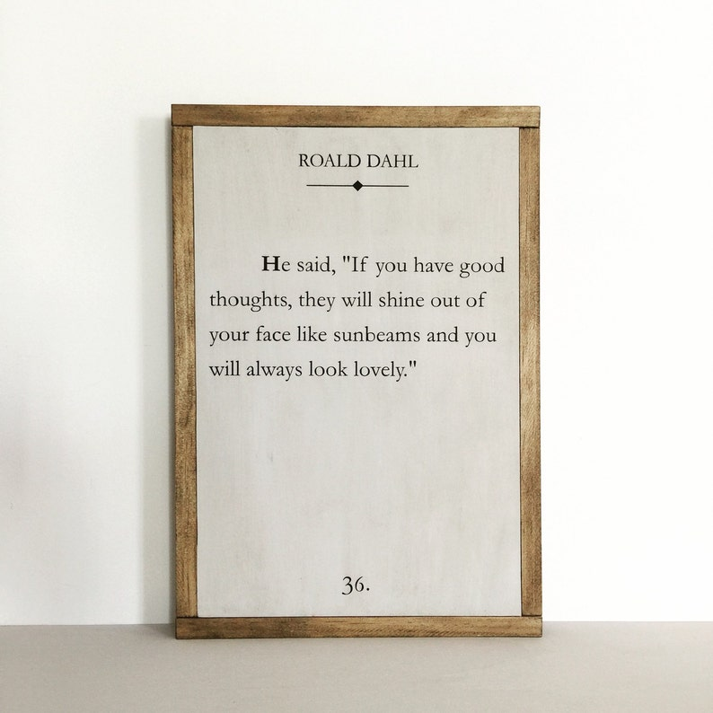 Book page sign quote sign literary quote nursery decor image 0