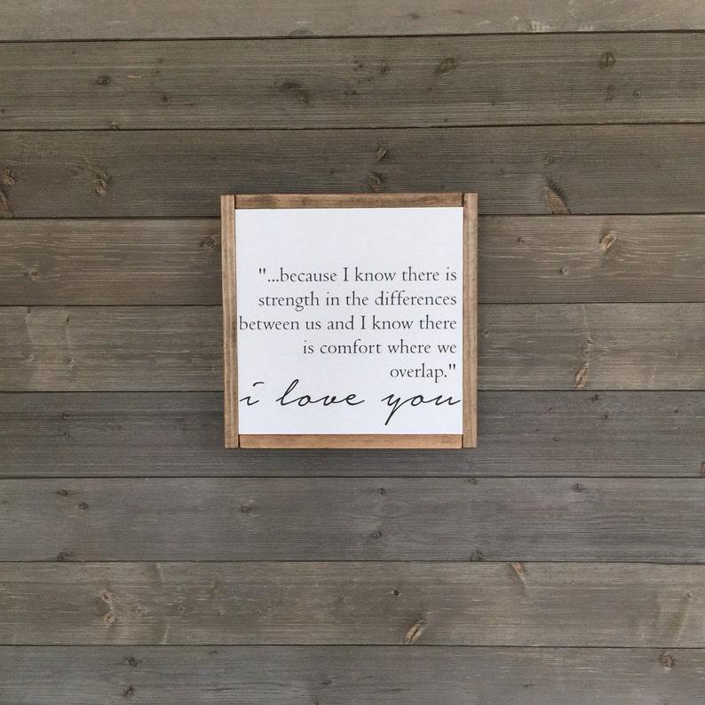 wood sign modern farmhouse decor I love you Love sign 14x14 sign