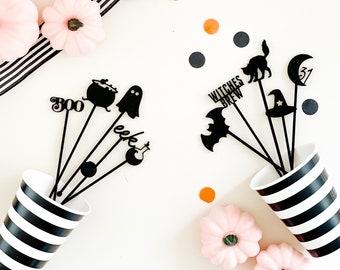 Halloween drink stirrers, swizzle sticks, drink stirrers, Halloween party decorations