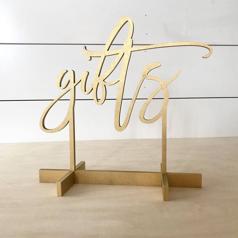 Gifts modern script table numbers Freestanding table image 0