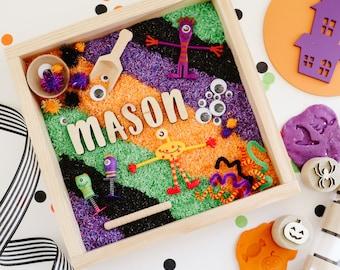 Monster Mash Sensory Kit, Halloween sensory bin, montessori play kit, personalized sensory kit, personalized fall sensory tray
