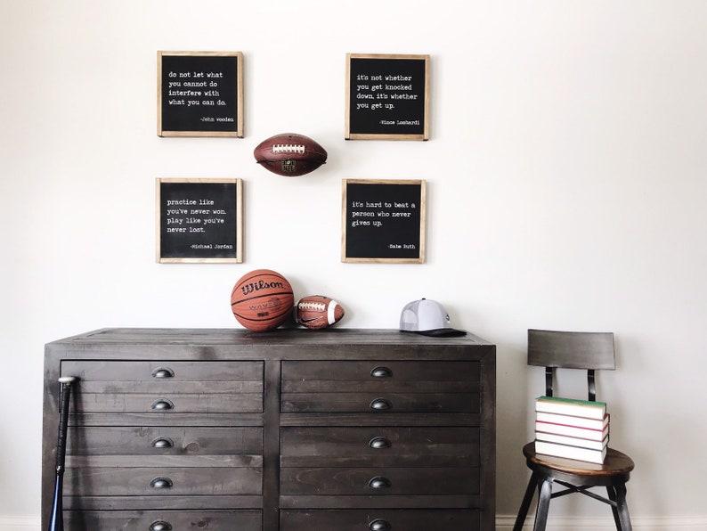 c85f4ddf31861 Sports quote set of 4, sports decor, kids decor, motivational quotes