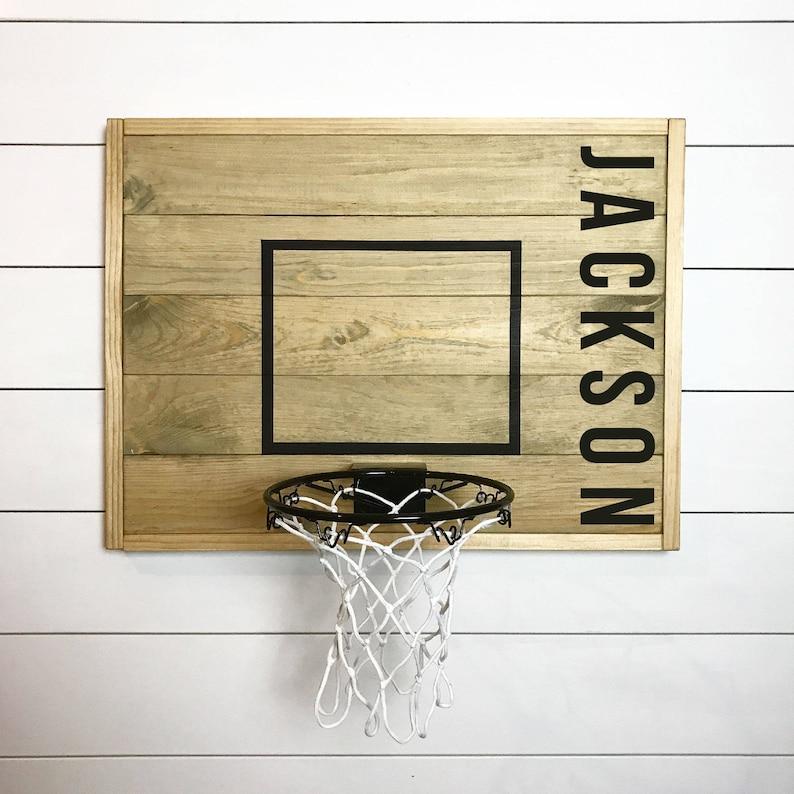 Rustic basketball goal personalized basketball goal image 0