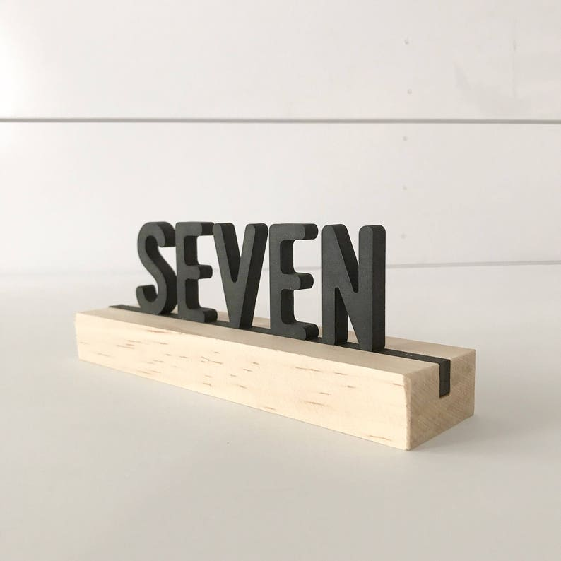 Letter board table numbers wood table numbers laser cut image 0
