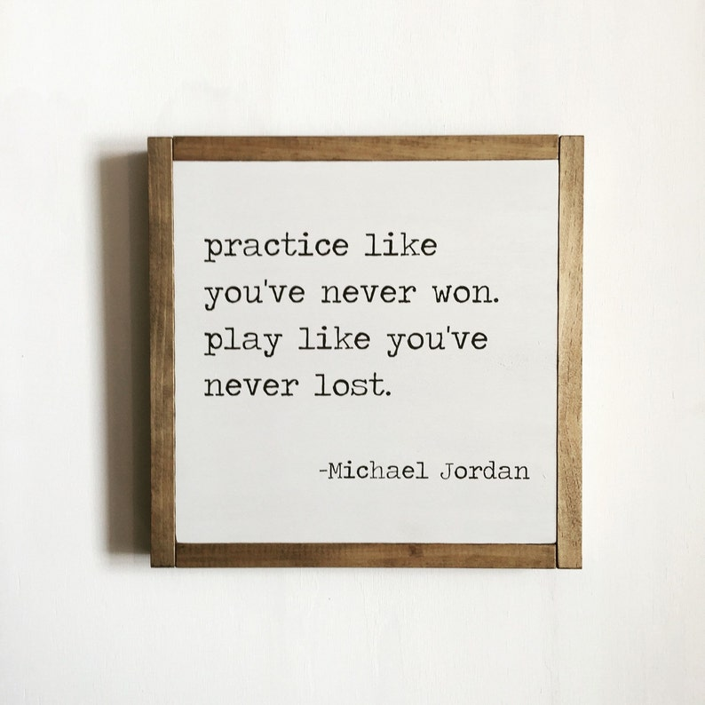 Sport quote sports decor Michael Jordan quote kids decor image 0