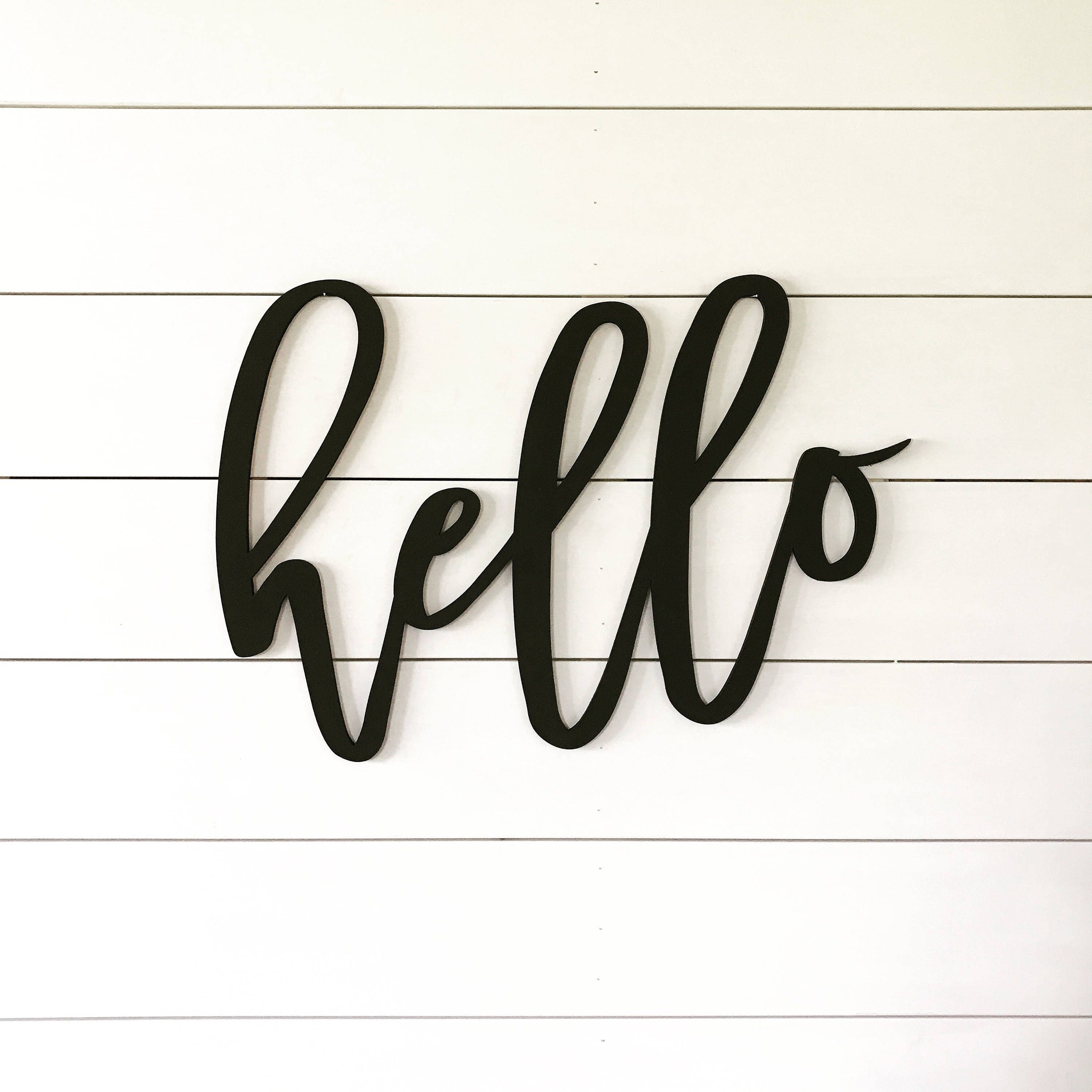 Hello Welcome Sign Word Cutout Wood Words Wood Letter