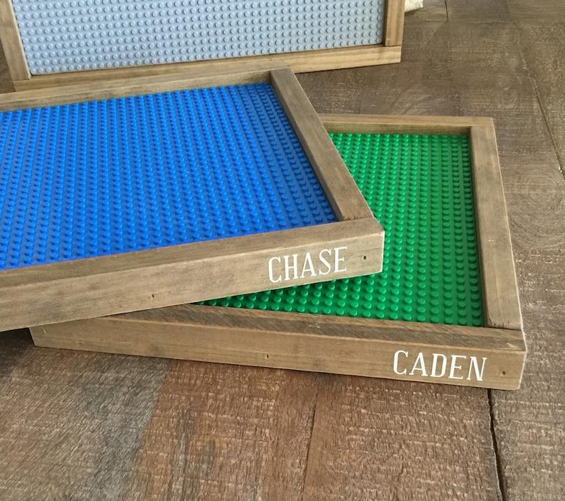 Personalized Lego trays Lego baseplate kids gift kids image 0