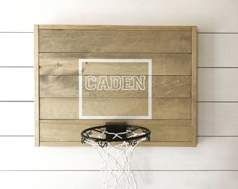Rustic basketball goal, personalized basketball goal, basketball hoop, wood
