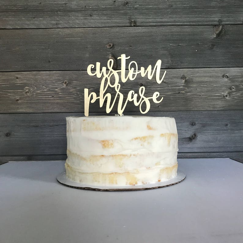 Cake topper personalized gold cake topper wedding cake image 0