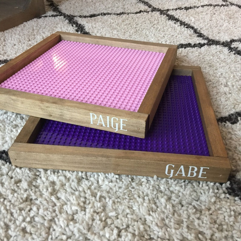 Personalized Lego trays Lego baseplate Duplo baseplate kids 10x10 Purple inches