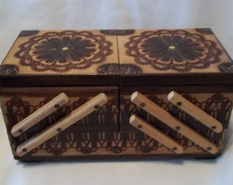 Antique Wooden Box Beautiful Style Vintage Collectible Decorative Gift Item